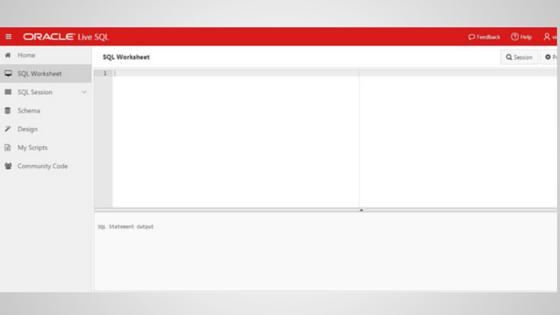 Free online SQL testing tool by oracle