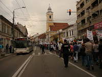 rosia montana protest in cluj