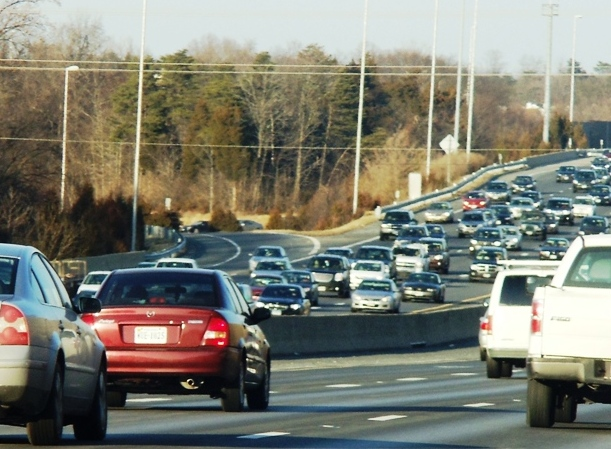 Traffic in Northern Virginia I-66