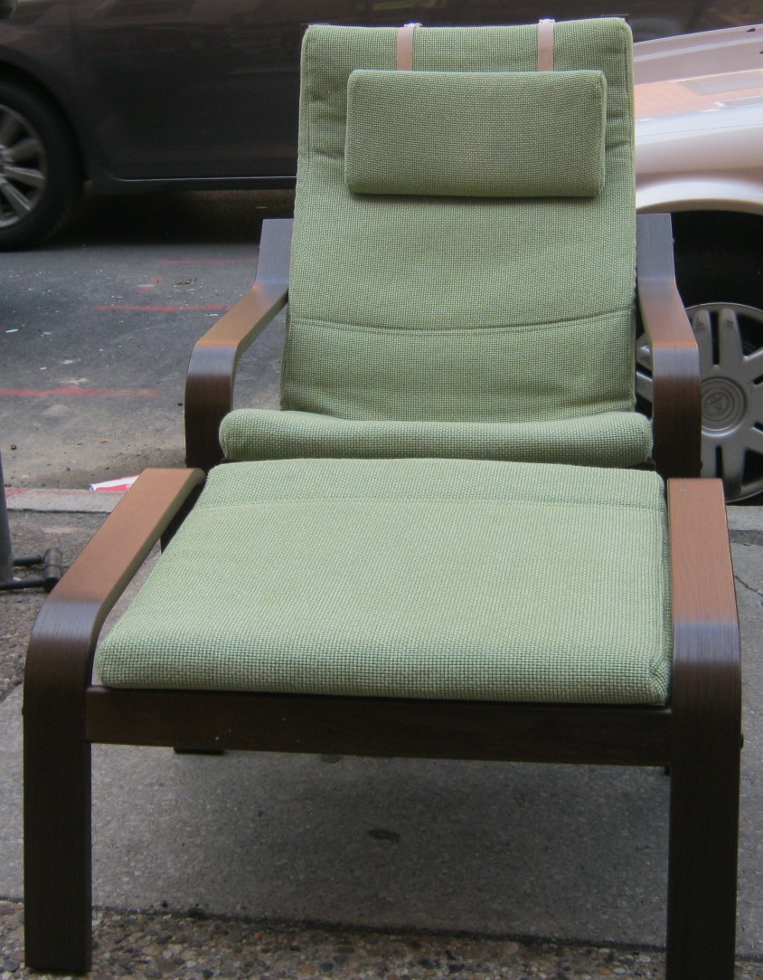 Uhuru furniture collectibles ikea poang chair ottoman for Ikea chair with ottoman