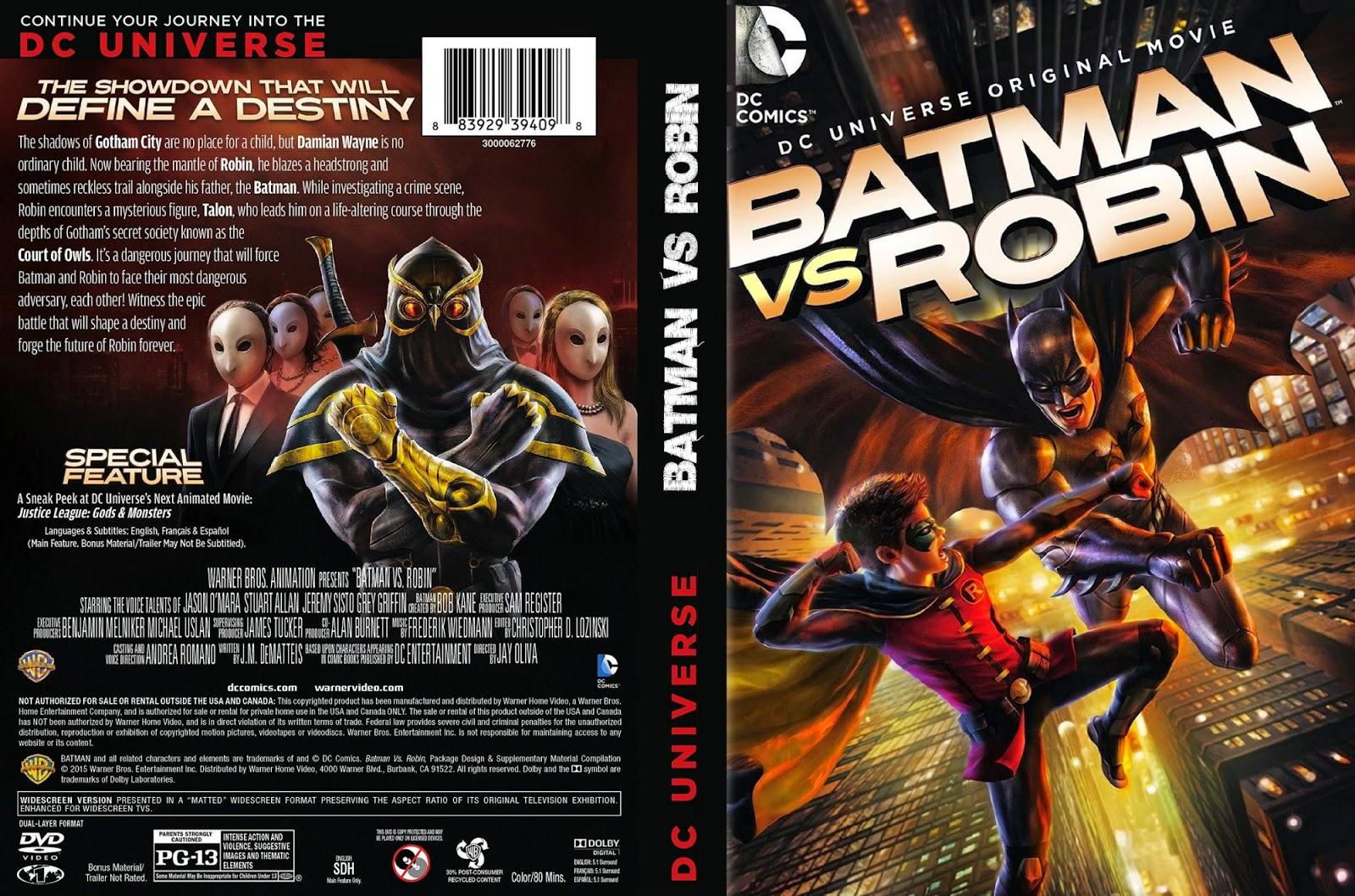 Baixar Batman vs. Robin BDRip XviD Dual Áudio BvsR DVD superheroesrevelados 2BBlog