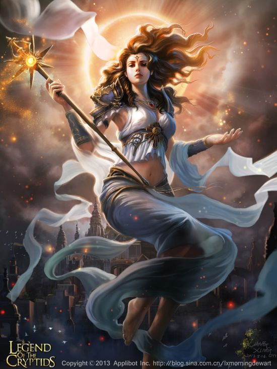 Liang Xing fantasy games illustrations Legends of the Cryptids