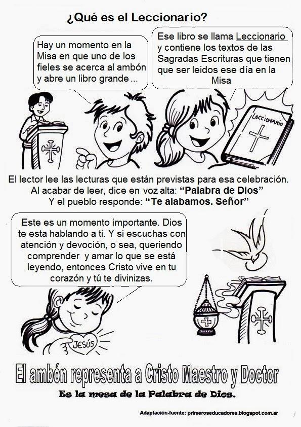 La Catequesis (El blog de Sandra): Recursos Catequesis Partes de la Misa
