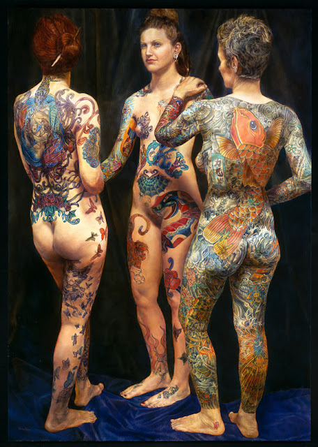Full tattoo women art