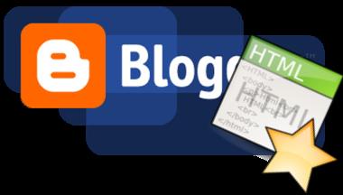 Логотип Blogger и иконка HTML