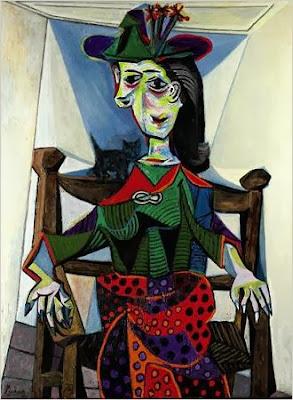"Famous Painting ""Dora Marr Au Chat"" by Pablo Picasso, 1941"
