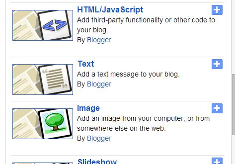 Blogger image gadget