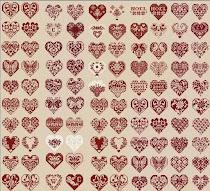 100 mini corazones
