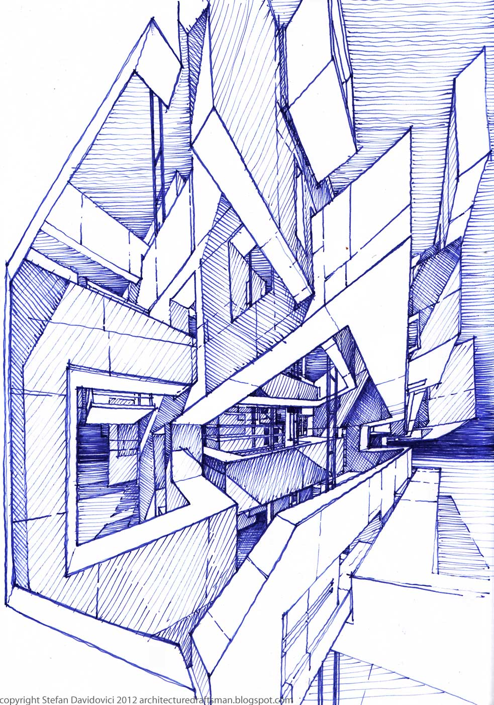 Untitled 2012 by stefan davidovici architecture for Architecture poste a poste