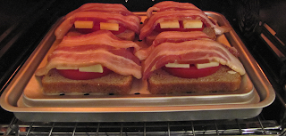 Four Sandwiches in the Toaster Oven
