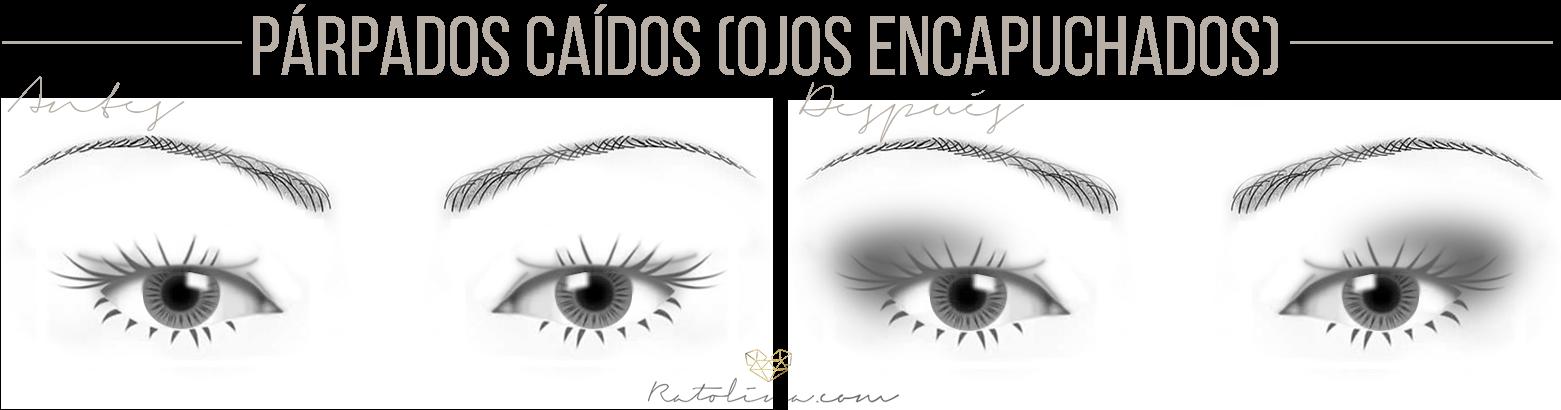 cómo maquillar ojos encapuchados