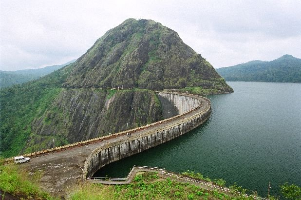 Idukki India  City new picture : the idukki dam located in kerala india is a 168 91 m 554 ft tall arch ...