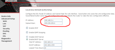 Configure the 3rd router in the network