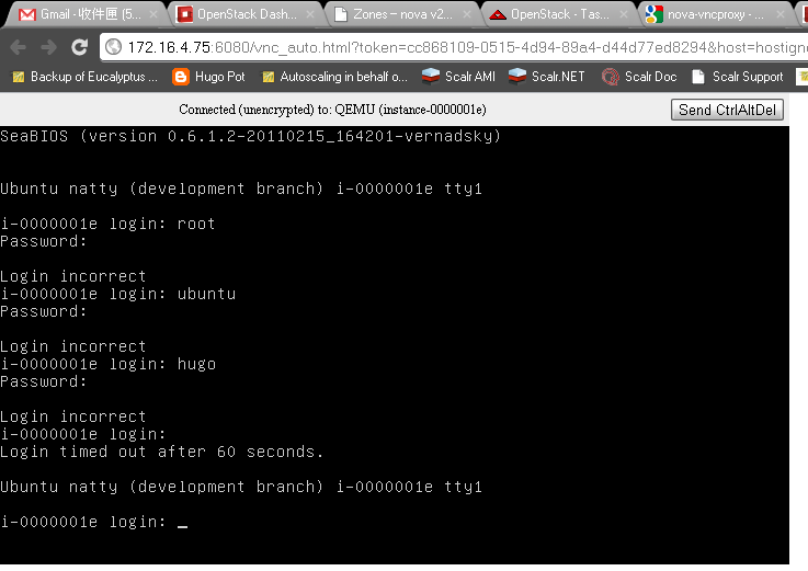 Implement instance vnc console on google chrome for Openstack consul