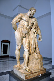 Depictions of Heracles from by Lysippos, a  Greek sculptor of the 4th century BC.