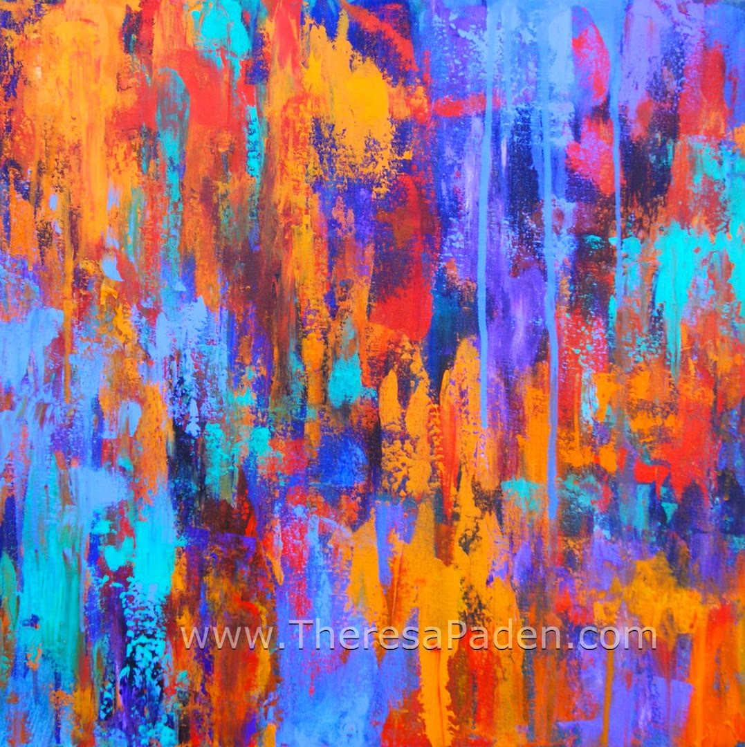 Paintings By Theresa Paden Abstract Modern Art Colorful Painting By Theresa Paden