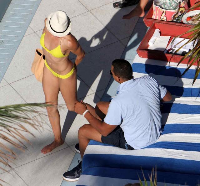 Cameron Diaz – Bikini Candids in Miami Beach