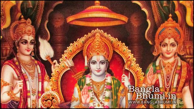 Lord Ram, Mata Sita & Laxman Indian God 1366x768 Wide Wallpaper