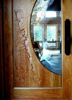 Carved custom door, Ely MN, John Huisman, http://www.huismanconcepts.com/