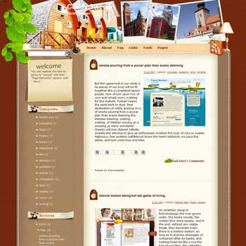 Comfy Sweden Bullfights Blogger Template. free download template blogspot