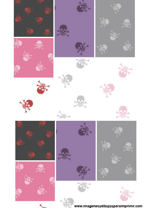 Stickers de calaveras para imprimir