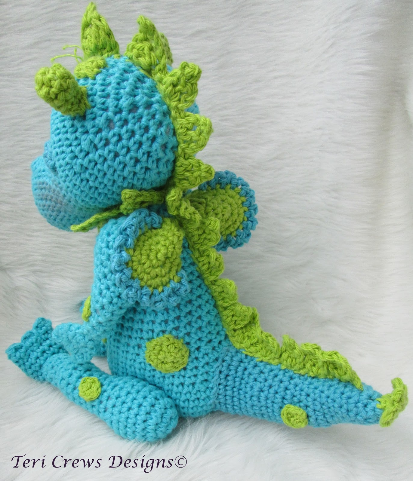 Crochet Patterns Dragon : Teris Blog: New Cute Dragon Crochet Pattern