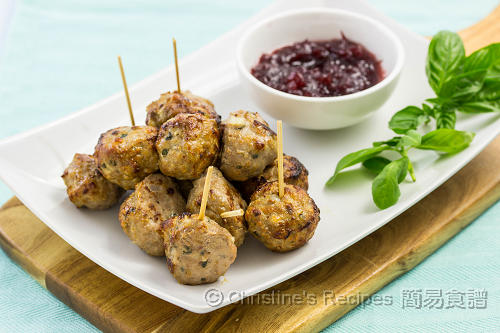 肉丸配蔓越莓醬 Meatballs with Cranberry Sauce02