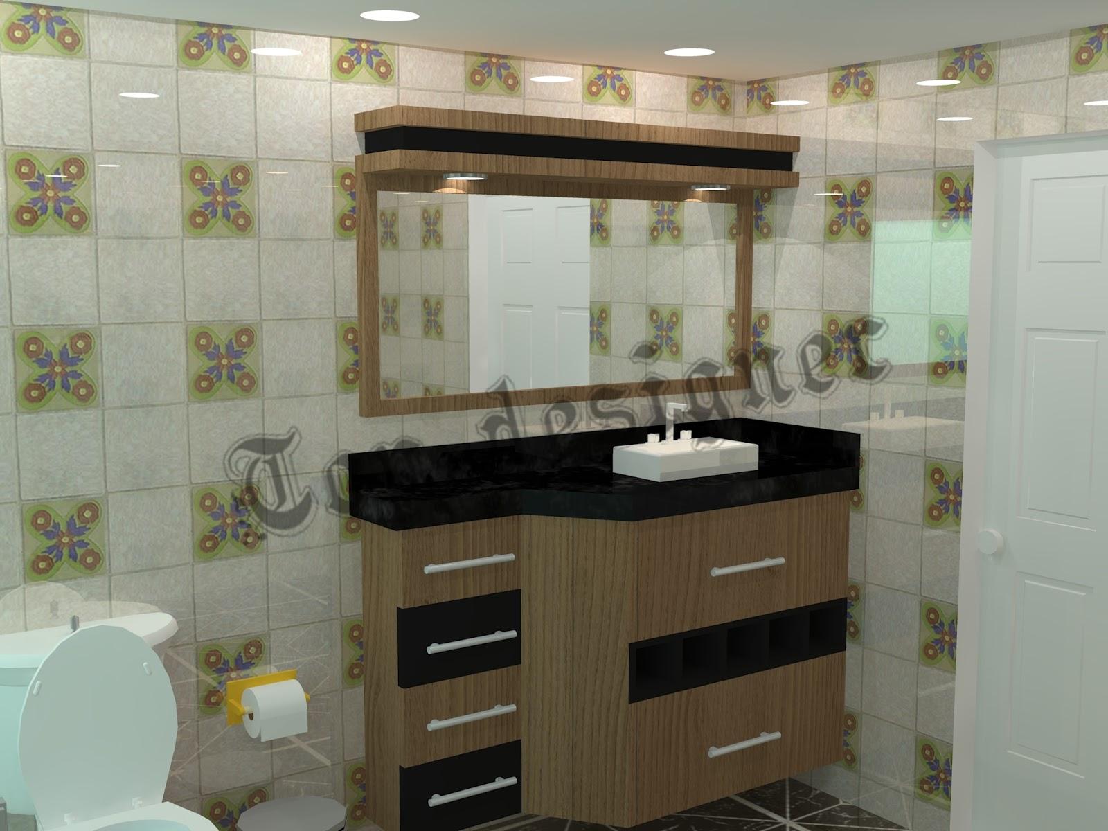 Balcão de banheiro com porta toalha #5B4C34 1600x1200 Banheiro Com Balcao