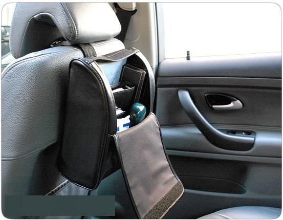 1 X Car Seat Back Storage Faux Leather Bag