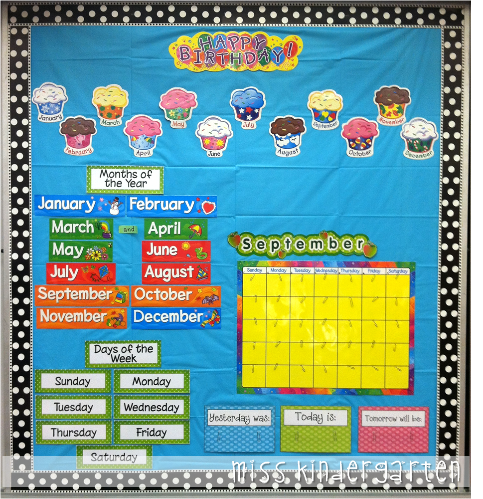 Kindergarten Calendar Wall : Busy miss kindergarten