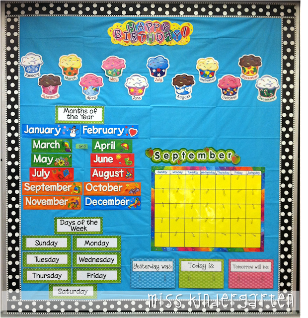 Kindergarten Calendar Craft : Busy miss kindergarten