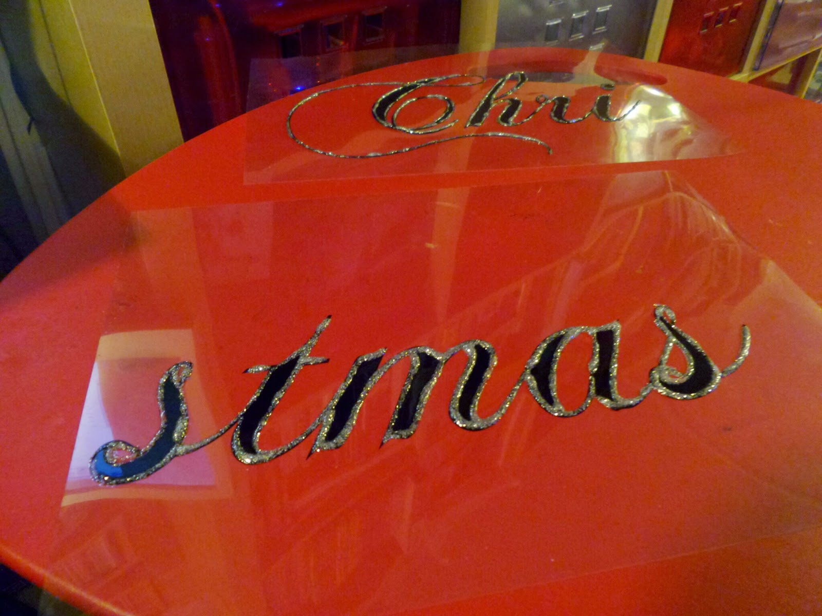 Glittered Acetate Christmas sign