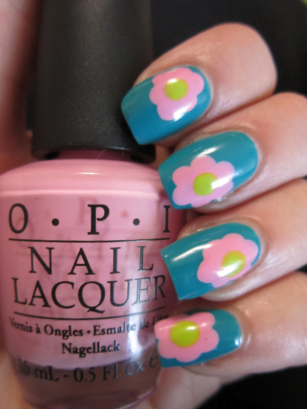 Epic Nail Time: Springtime Flower Nail Art with OPI\'s Nicki Minaj ...