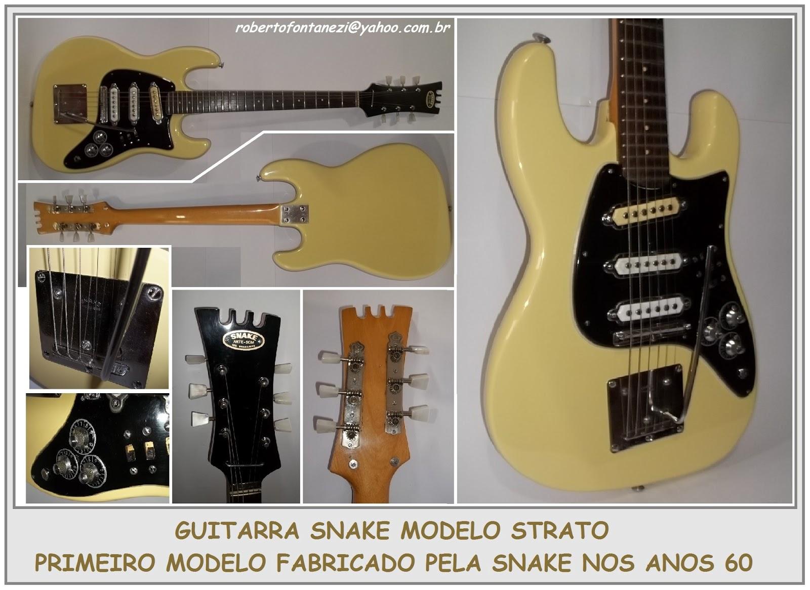 Guitarra Snake modelo Strato - Primeiro modelo fabricado pela Snake