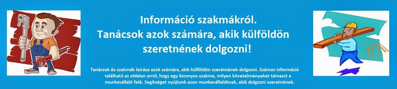 Információ szakmákról. Tanácsok azok számára, akik külföldön szeretnének dolgozni!