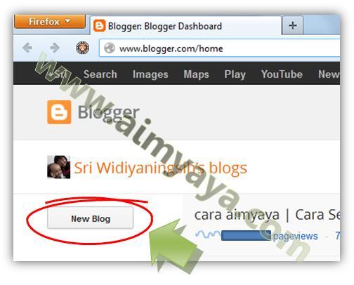 Gambar: Membuat Blog Baru di blogspot