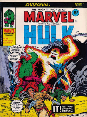 Mighty World of Marvel #168, Hulk vs Zzzax