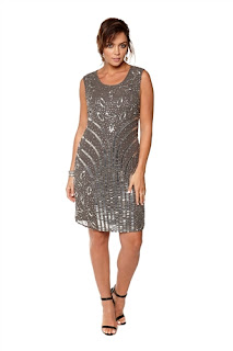 Frock And Frill Grey Beaded Dress