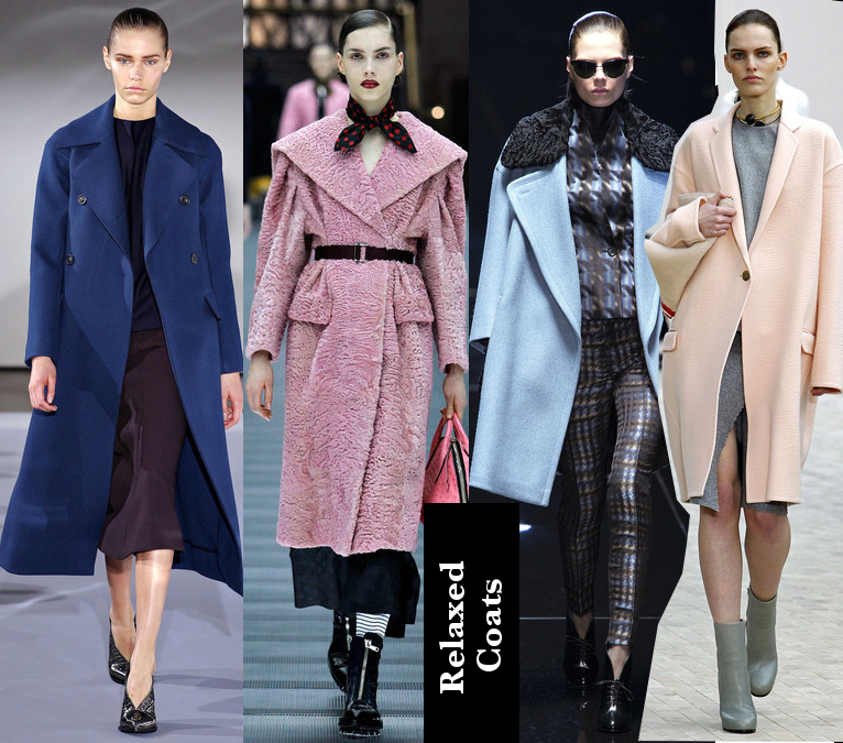 Women's Fall 2013/2014 Trends- Relaxed Colorful Coats
