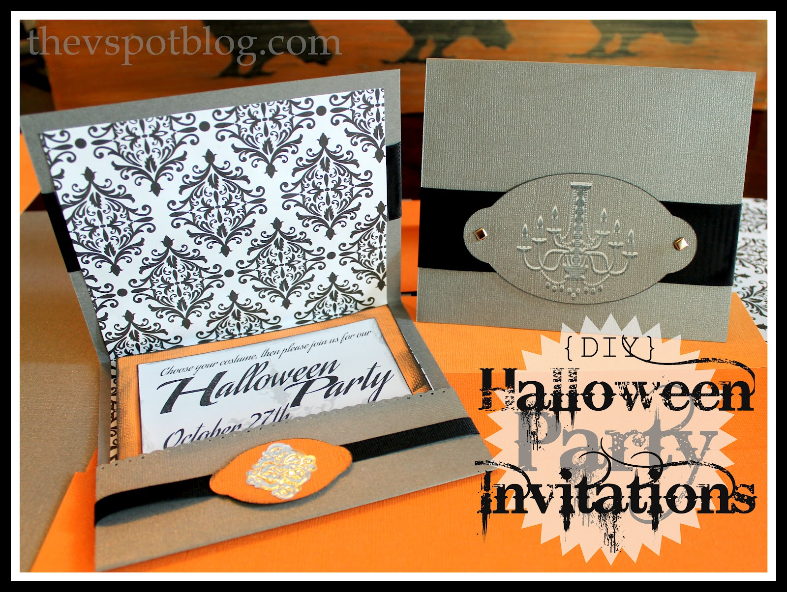 DIY Halloween Party Invitations For the nonscrapbooking nonpaper