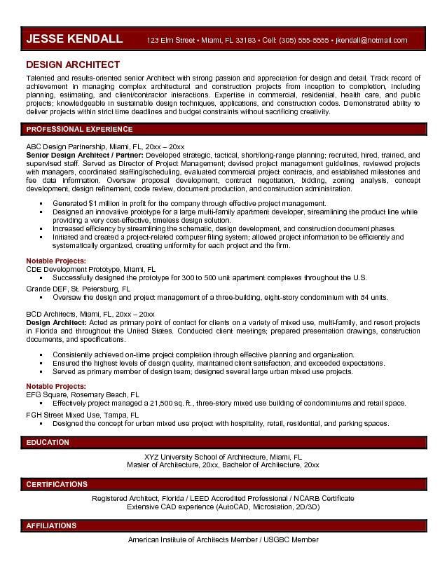 technical architect resume doc