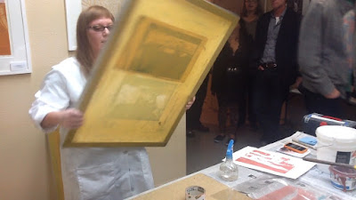 Ren Adams art, serigraphy demo