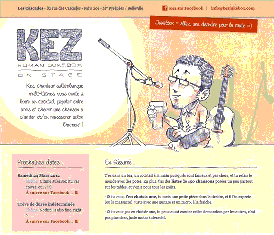 Kez Jukebox  - Website design using drawings and illustration