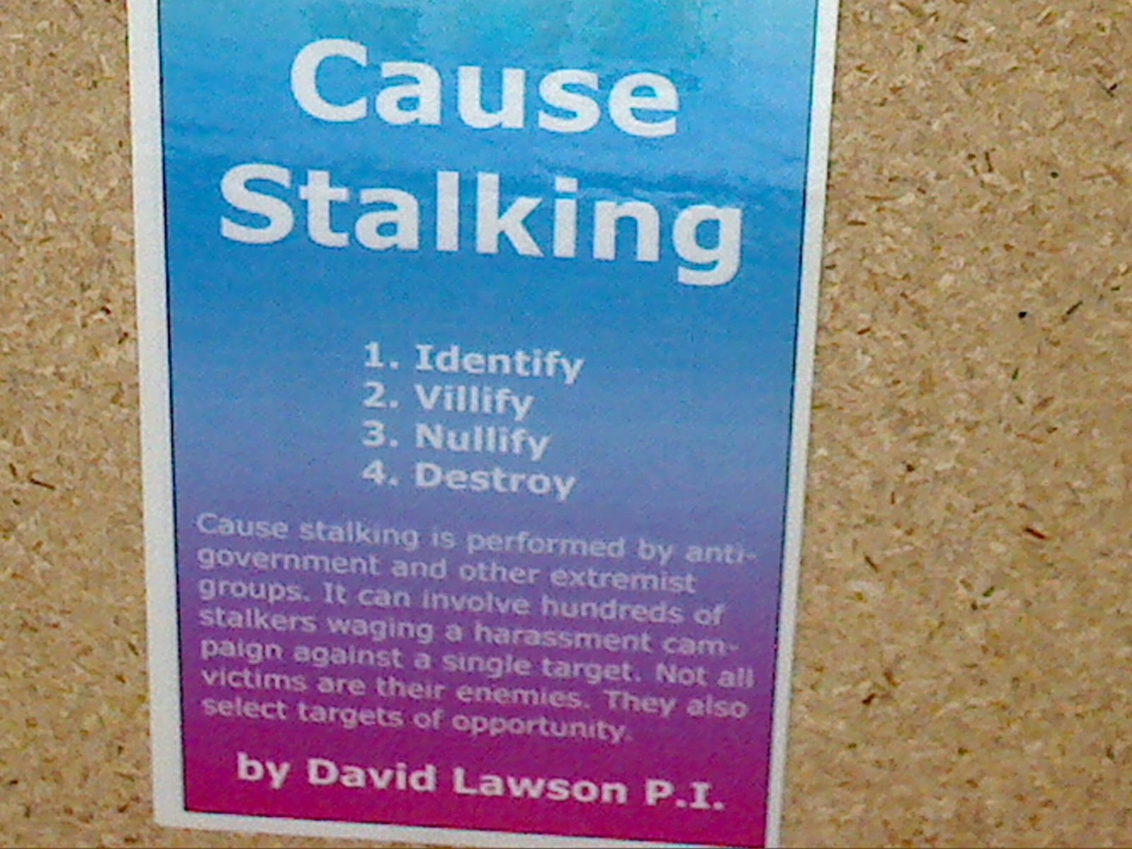 Stalking Quotes Diary Of A Gangstalking Target Cause Stalking Booklet