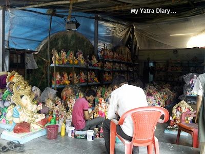 Ganesh statue making, Ganesh Charurthi Decoration