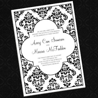 delightful damask wedding invitations custom colors by InvitationsbyEmily