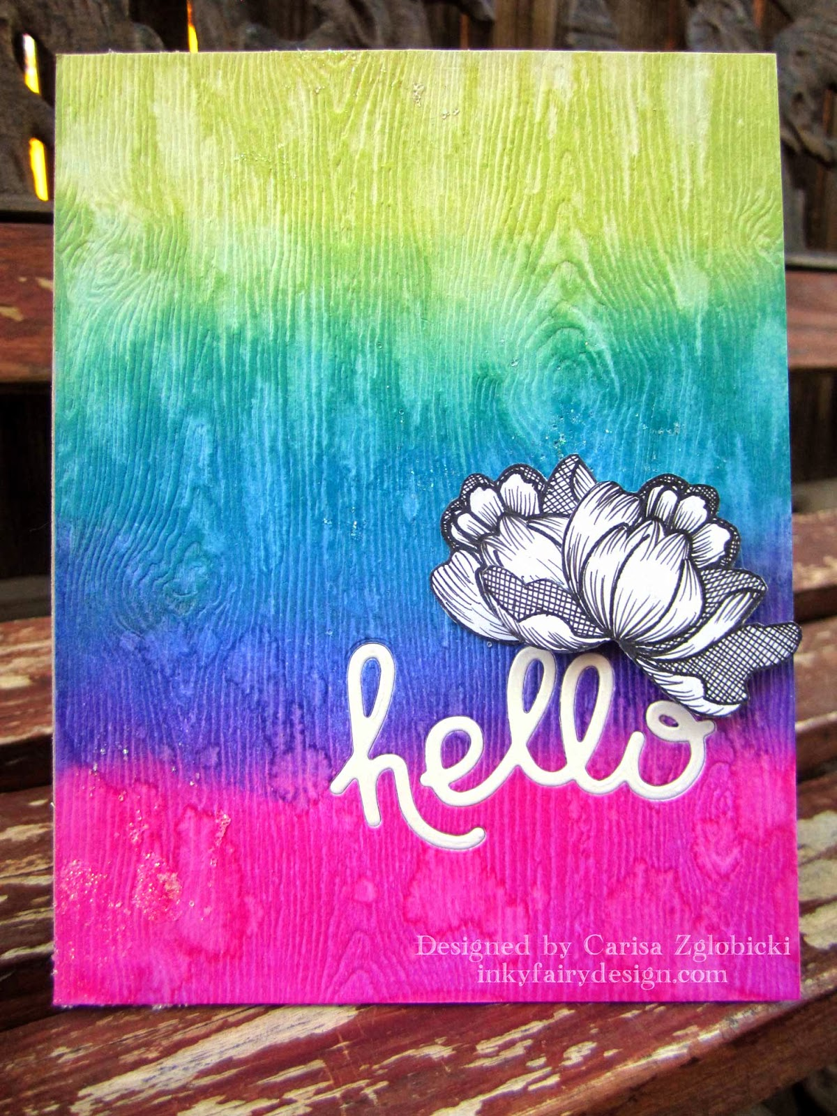 Next, I Wanted To Keep This Card Simple Because I Loved The Background Ink  Blending So Much. So, After MUCH Digging Through My Crafts, I Finally Found  The ...