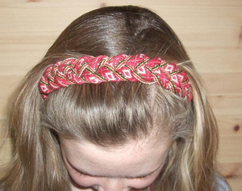 flettet hårbånd bunad