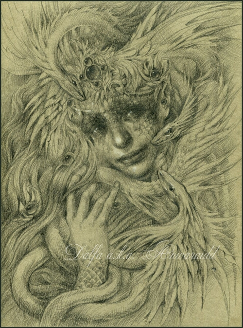 19-Serpenta-Olga-Anwaraidd-Drawings-Fantasy-Portraits-Imaginary-Characters-www-designstack-co