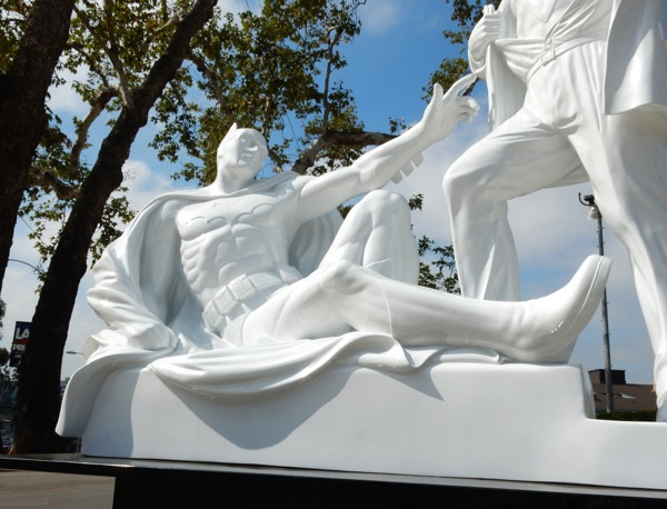 White Batman Modern Heroes statue replica